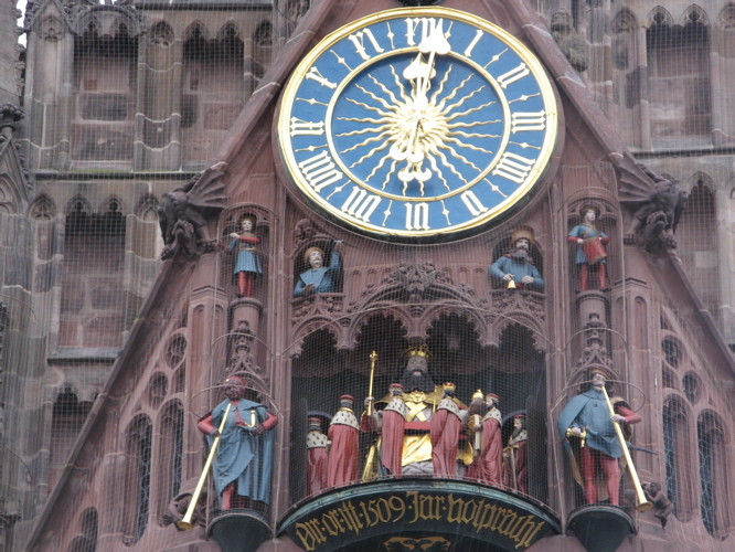 The Clock of the FrauenKirche in Nuremberg