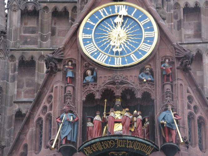 The Clock of the FrauenKirche in Nuremberg